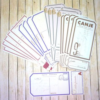 Assorted Paper Tickets for Journaling (PA012)
