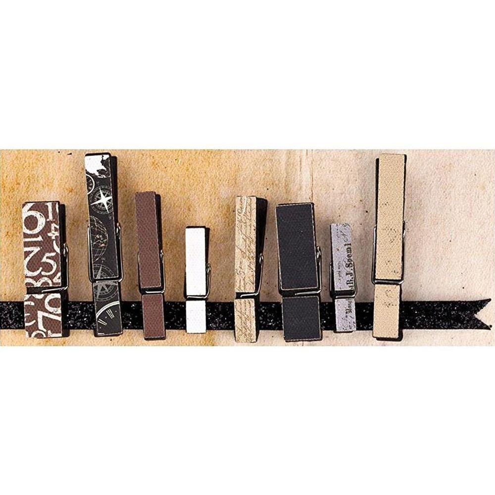 Prima Marketing Wooden Clip Embellishments - Engraver