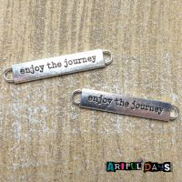 "Silver ""enjoy the journey "" Charm (C138)"