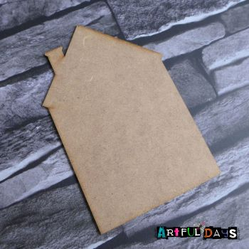 Artful Days MDF - House Blank (ADM053)