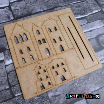Artful Days MDF - House, Street View Upright (ADM054)