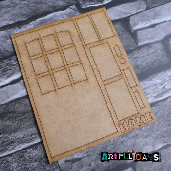 Artful Days MDF - House, Large Window Door (ADM057)