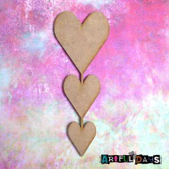 Artful Days MDF - Love, Heart Trio (ADM063)