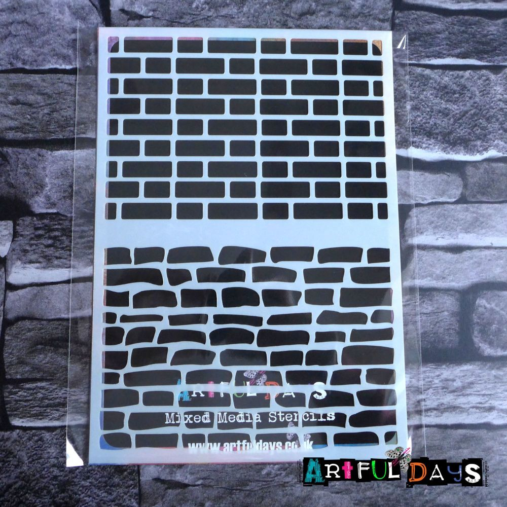 Artful Days A5 Stencils - House Bricks (ADS010)