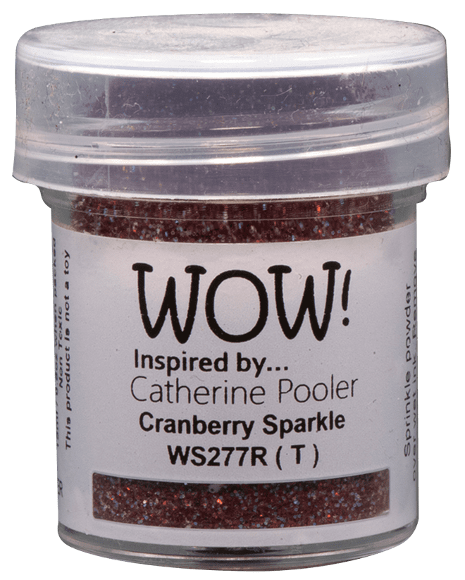 WOW Embossing Glitter - WS277 Cranberry Sparkle*Catherine Pooler*