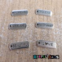 Set of 6 Word Charms (C171)