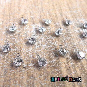 Teeny  Clear Gemstones in Setting  (CA3026)