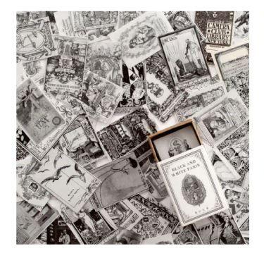 Mini Card Pages - Black & White 100 (PA001)