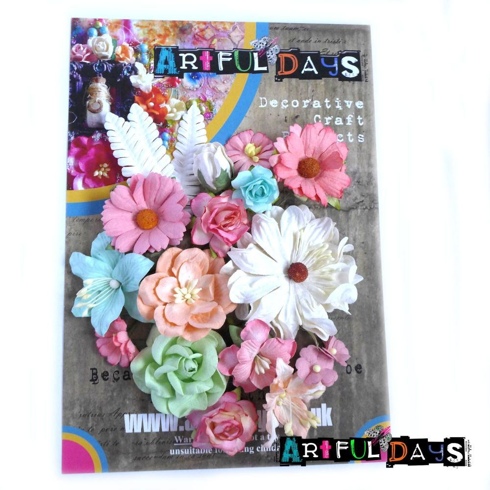 Spring Blooms - Mulberry Paper Flowers Set 2