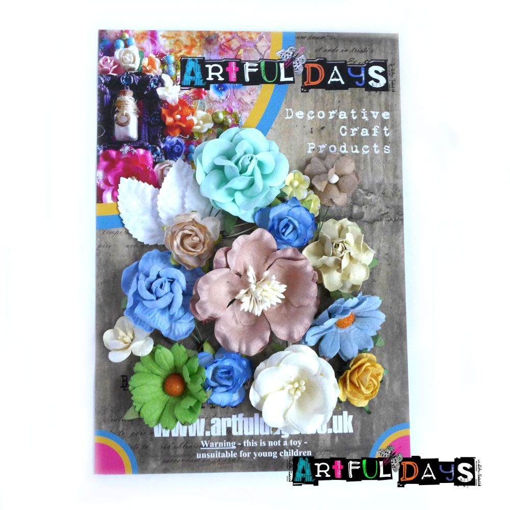 Spring Blooms - Mulberry Paper Flowers Set 3