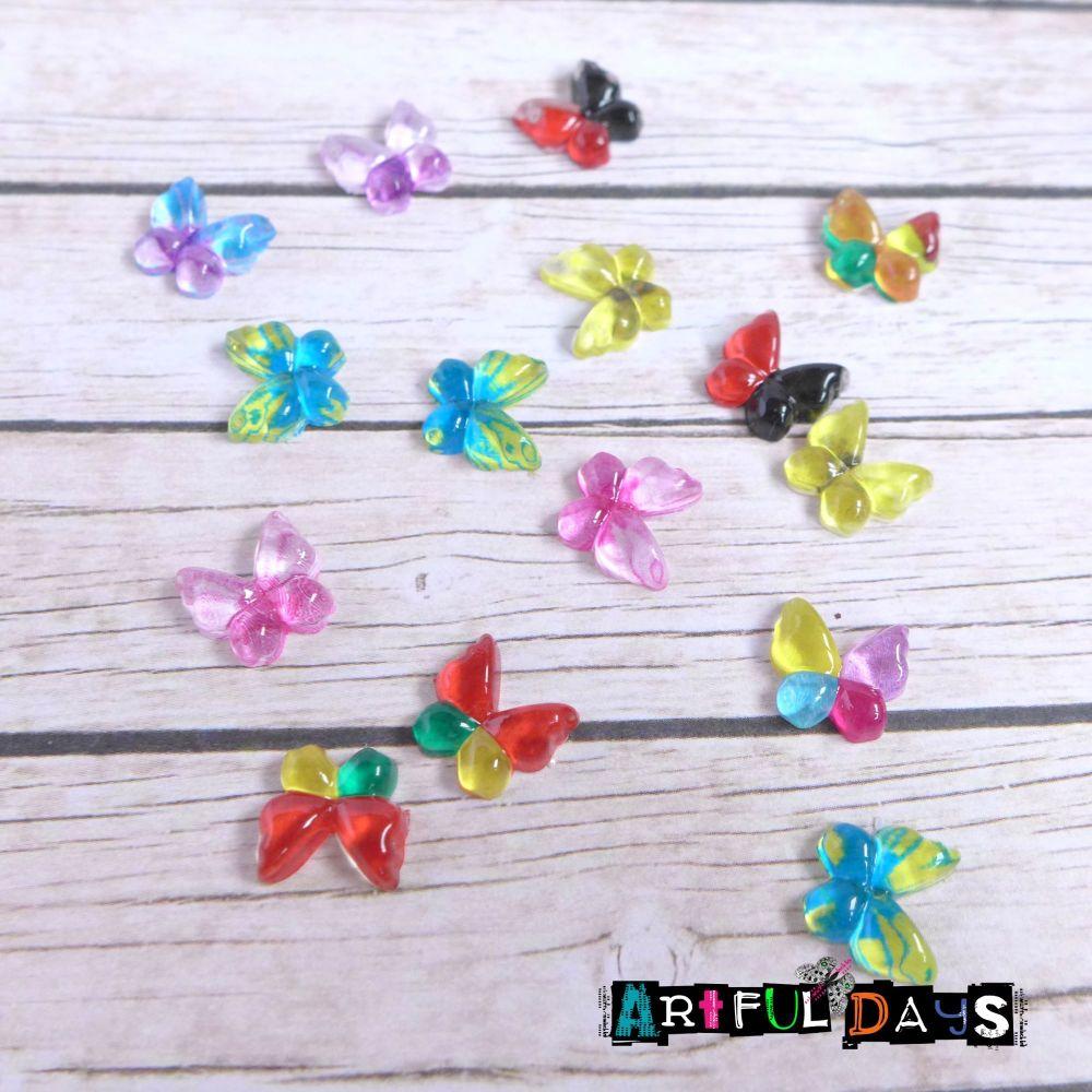 Tiny Acrylic Butterfly Cabochons (CA3002)