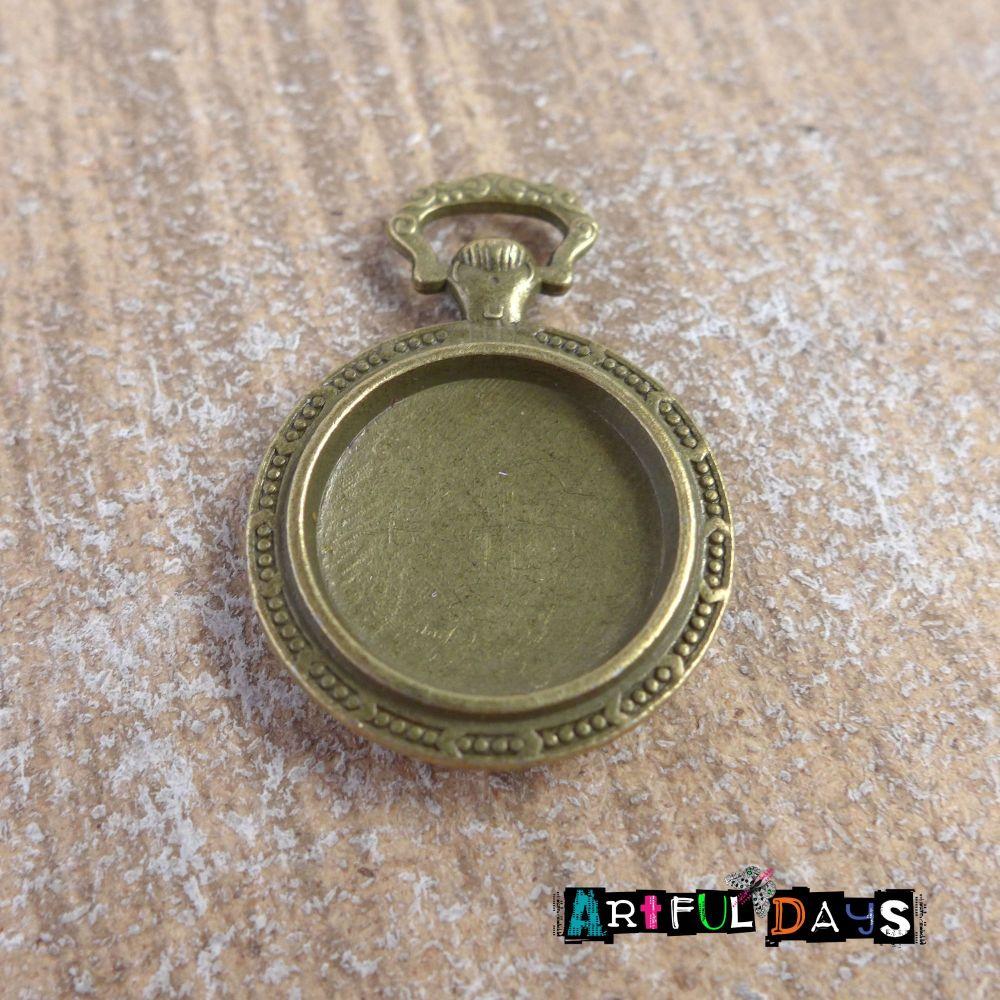 Bronze Pocket Watch Setting (C056)
