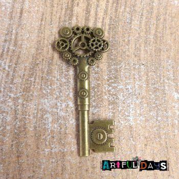 Steampunk Gears & Cogs Key (C082)