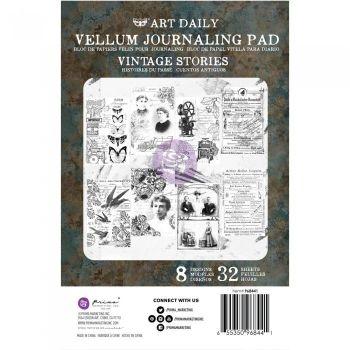 Prima Finnabair Art Daily Vellum Journaling Pad - Vintage Stories