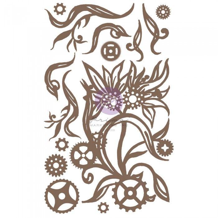 Prima Finnabair - Decorative Chipboard - Steampunk Blooms