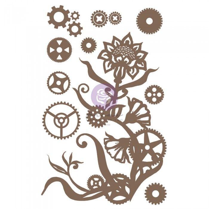Prima Finnabair - Decorative Chipboard - Steampunk Flowers