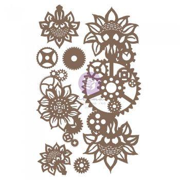 Prima Finnabair - Decorative Chipboard - Machine Floral Decors