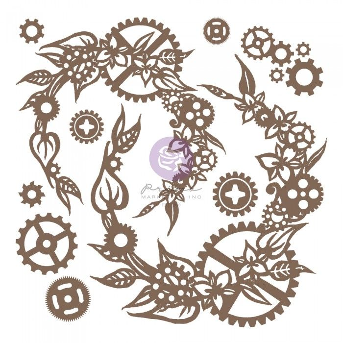 Prima Finnabair - Decorative Chipboard - Mechanical Wreath