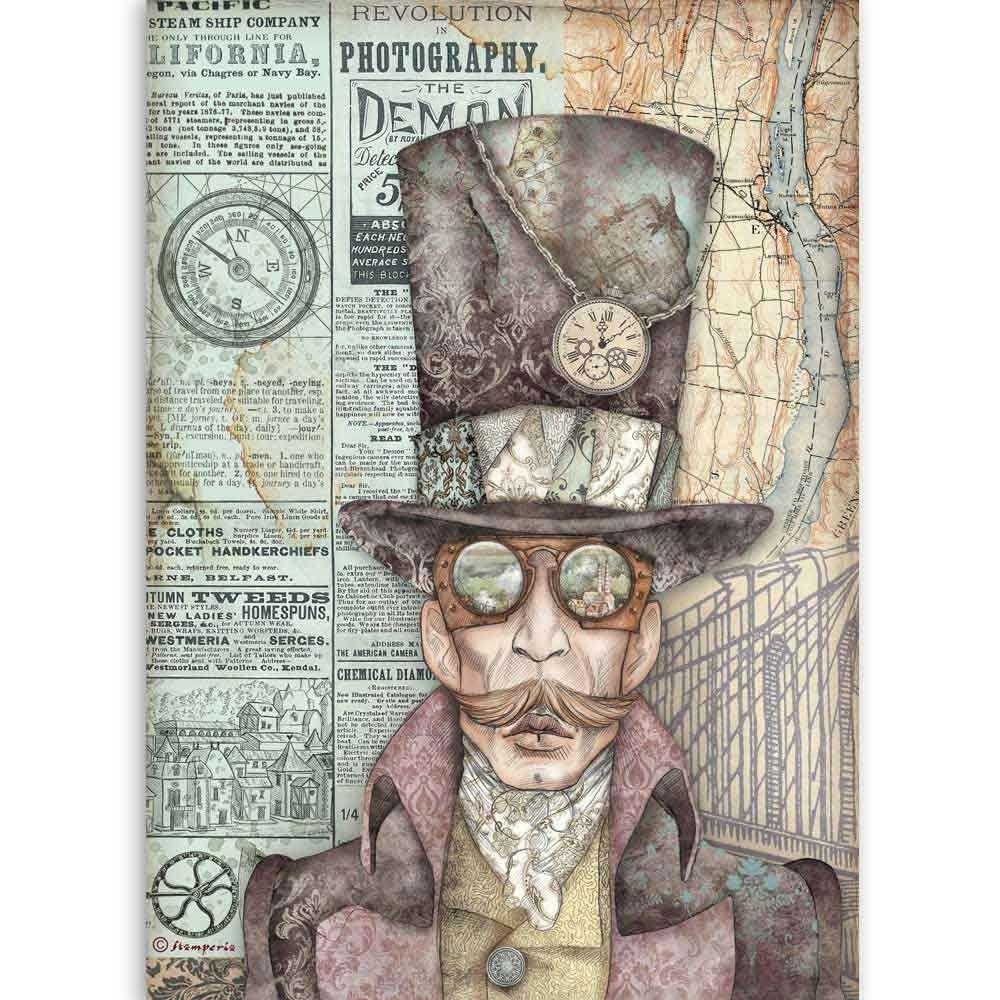 Stamperia Alice Cards A4  Rice Paper  (DFSA4382)