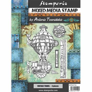 Stamperia Sir Vagabond Vintage Travel Mixed Media Stamp (WTKAT16)