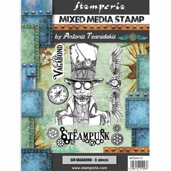 Stamperia Sir Vagabond Steampunk Mixed Media Stamp (WTKAT17)