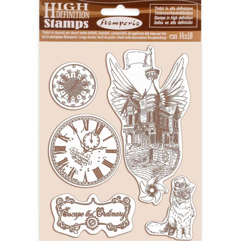 Stamperia Alice Natural Rubber Stamp (WTKCC185)