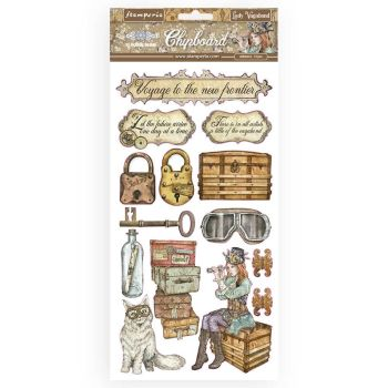 Stamperia Lady Vagabond Gold Chipboards (DFLCB18)