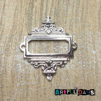 Silver Decorative Rectangle Frame (C070)