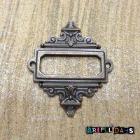 Aged Copper Decorative Rectangle Frame (C064)