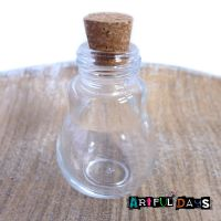 Large Bulb Shaped Glass Vial -  65mm