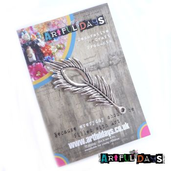 Treasured Artefacts - Large Silver Feather (TA238)