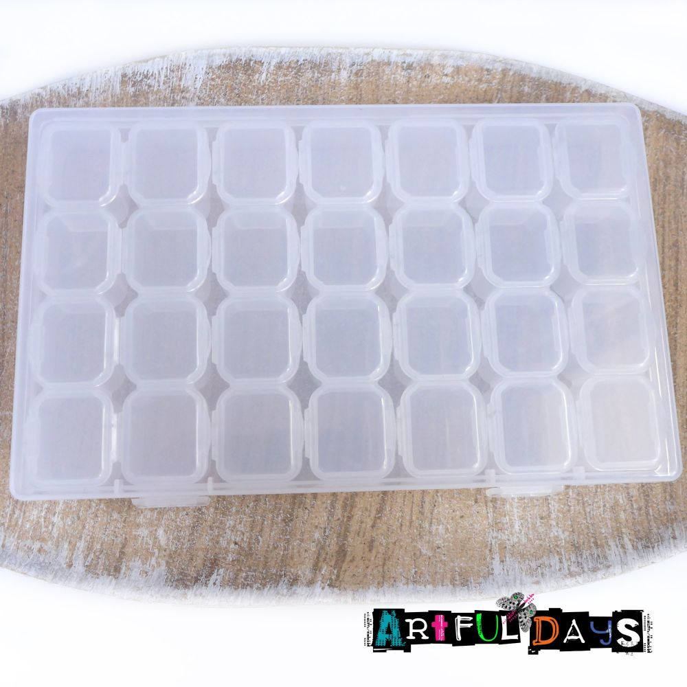 Clear Craft Storage Box  with Lidded Compartments