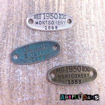 Antique Metal Tags (C046)