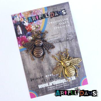 Treasured Artefacts  - Copper & Gold Bees (TA215)