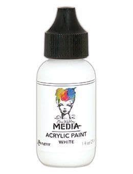 Dina Wakley Media Acrylic Paints 1oz - White