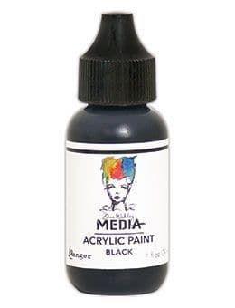 Dina Wakley Media Acrylic Paints 1oz - Black