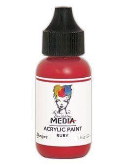 Dina Wakley Media Acrylic Paints 1oz - Ruby