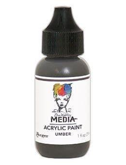 Dina Wakley Media Acrylic Paints 1oz - Umber