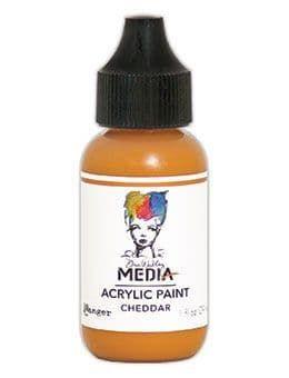 Dina Wakley Media Acrylic Paints 1oz - Cheddar