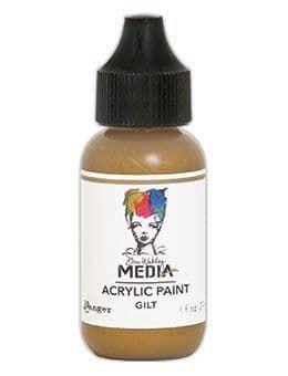 Dina Wakley Metallic Media Acrylic Paints 1oz - Gilt