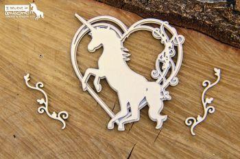 Believe in Unicorns - 3D Heart (5733)