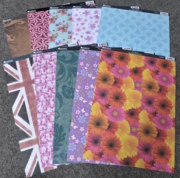 Assorted Patterned Kanban Card 10 A4 Sheets
