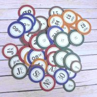 Assorted Paper Numbers for Journaling (PA023)