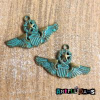 Patina Wing Medal Charms(C048)
