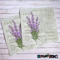 Paper Napkins - Lavender Script (PN001)