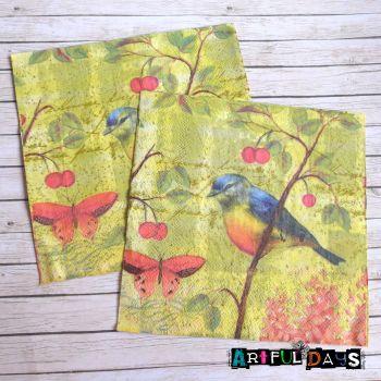 Paper Napkins - Birds (PN009)