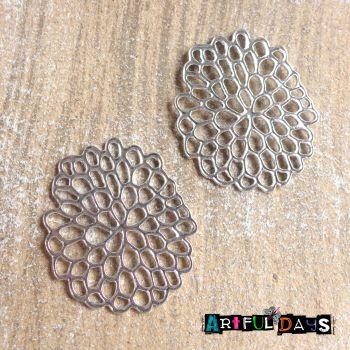 Silver Bubble Flowers (C130)