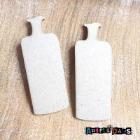 Artful Days MDF - Grey board Bottles (ADM033)