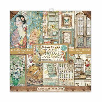 Stamperia Atelier des Arts 8x8 Inch Paper Pack (SBBS33)