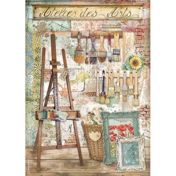 Stamperia Atelier des Arts A4  Rice Paper Easel (DFSA4551)